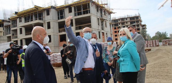 Izgradnja stambenih blokova za pripadnike snaga bezbednosti Jugovićevo u Novom Sadu teče po planu