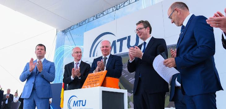 Počela izgradnja postrojenja kompanije MTU Maintenance Serbia u Novoj Pazovi